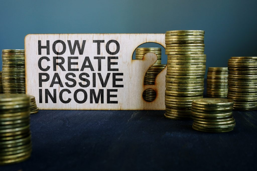 graphic showing how to achieve passive income with coins