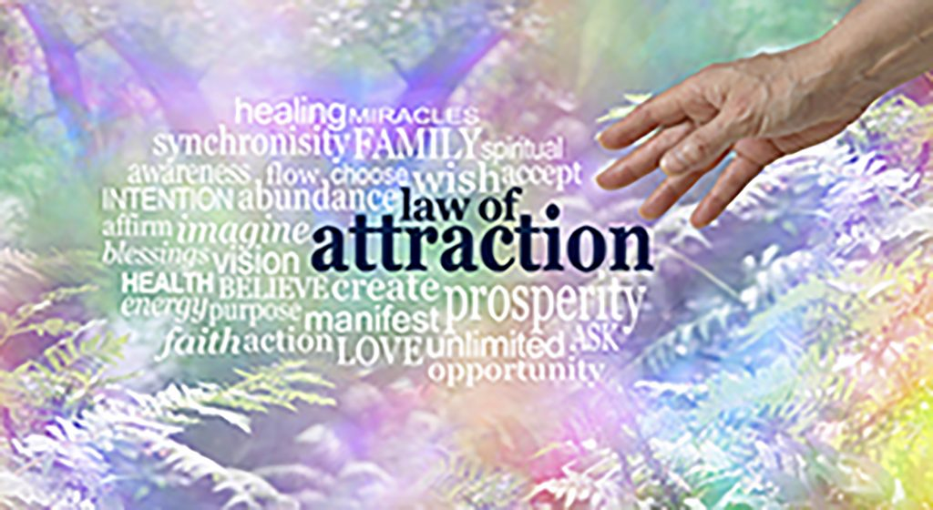 Graphic of the law of attraction and the ways it can help